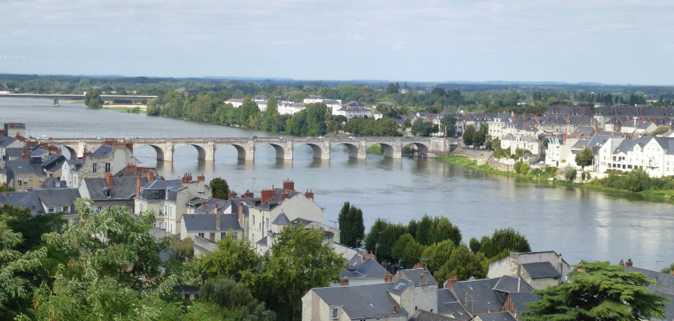 View over the Loire River from the Chateau at Saumur